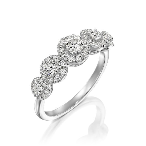 טבעת אירוסין אלכסנדרה זהב לבן 0.87 קראט