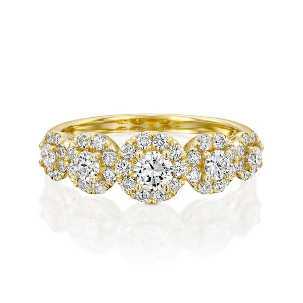 טבעת אירוסין אלכסנדרה זהב צהוב 0.87 קראט