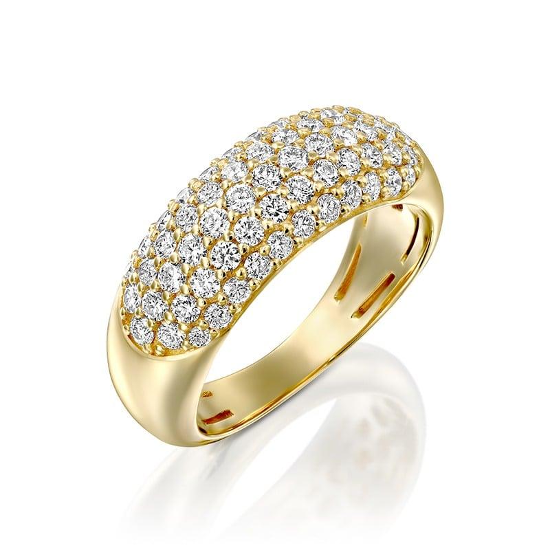 טבעת איזבל שיבוץ פאווה