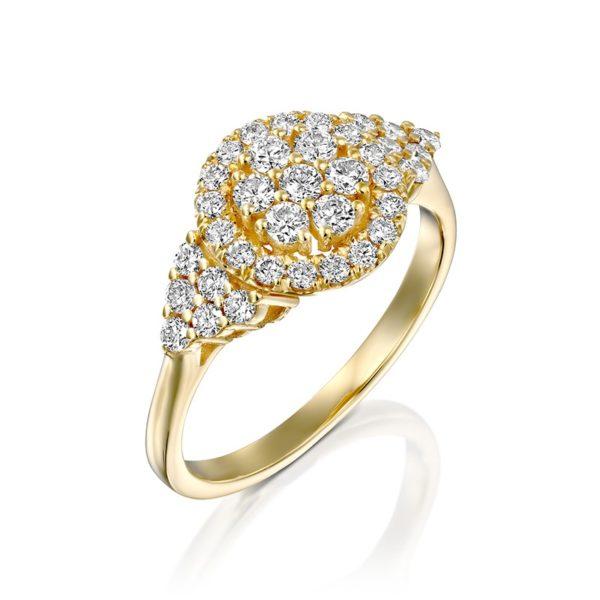 טבעת אירוסין זהב צהוב אליזבת זהב צהוב 0.70 קראט