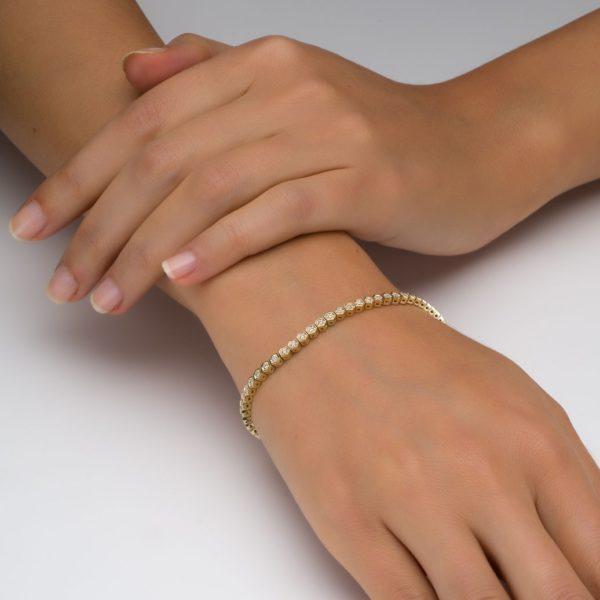 צמיד טניס יהלומים משושה 0.58 קראט