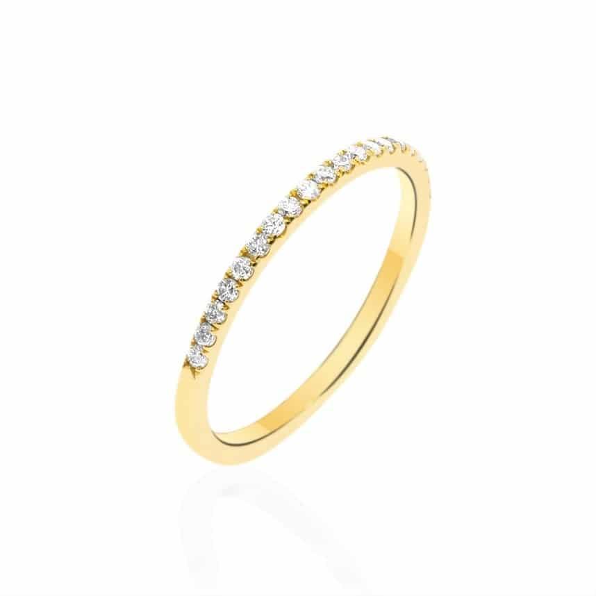 טבעת יהלומים קו האופק