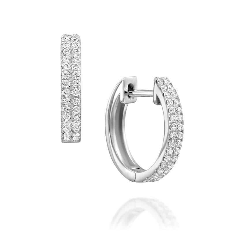 עגילי יהלומים חישוק