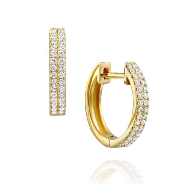 עגילי יהלומים חישוק אלקסה