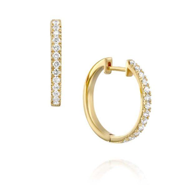 עגילי יהלומים חישוק אליס