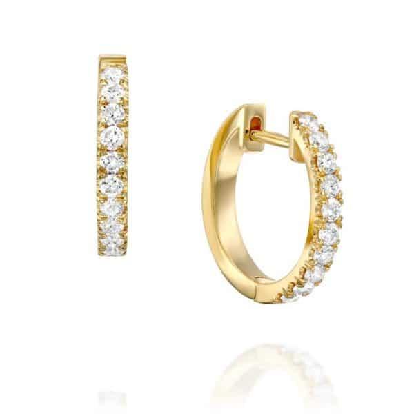 עגילי יהלומים חישוק אלין