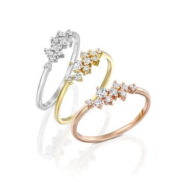 טבעת יהלומים בעיצוב וינטג' מאריה