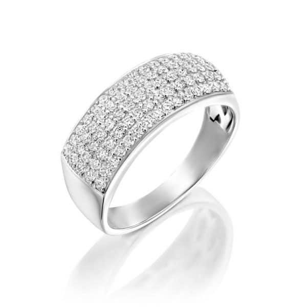 טבעת יהלומים כריסטינה 5 שורות
