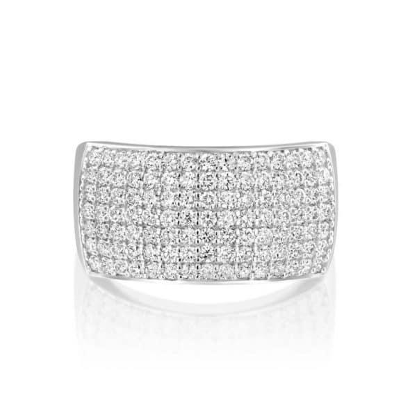 טבעת יהלומים כריסטינה 7 שורות