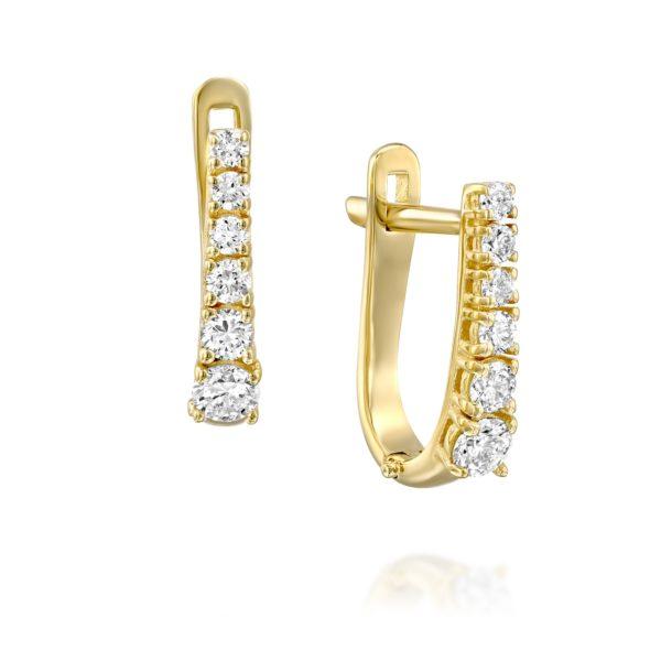 עגילי יהלומים ג'וליה