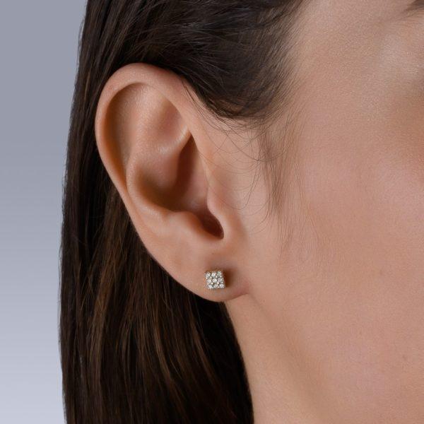 עגילי יהלומים פיאזה