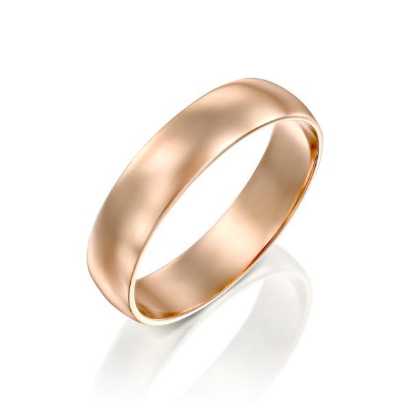 טבעת נישואין קלאסית חצי עגולה 5 מ
