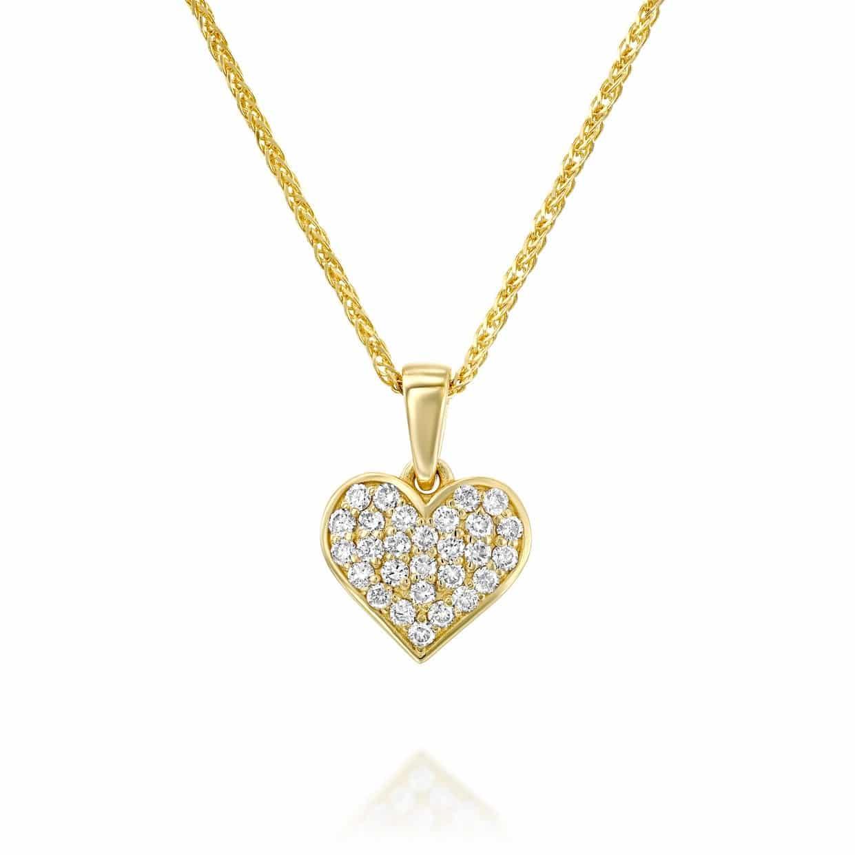 תליון יהלומים לב