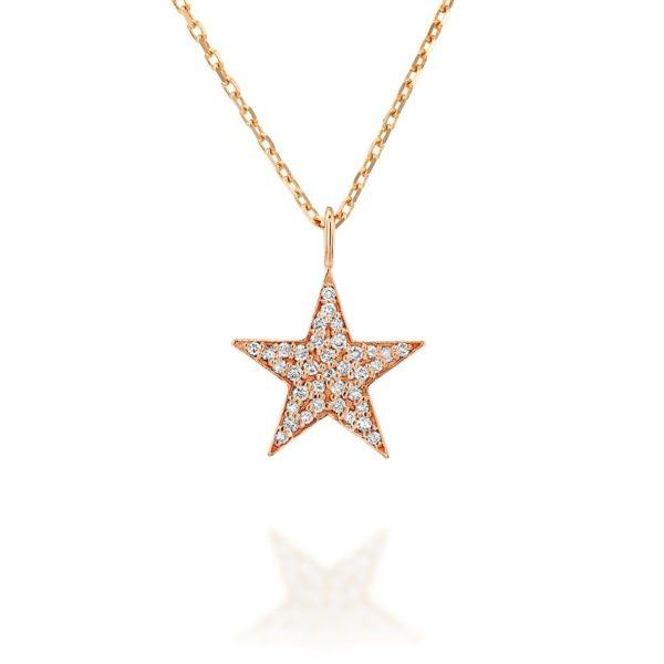 תליון יהלומים כוכב