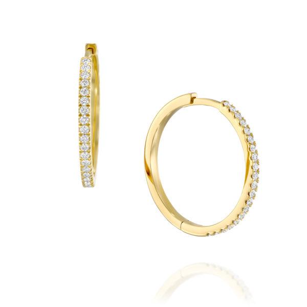 עגילי יהלומים חישוק דורטי