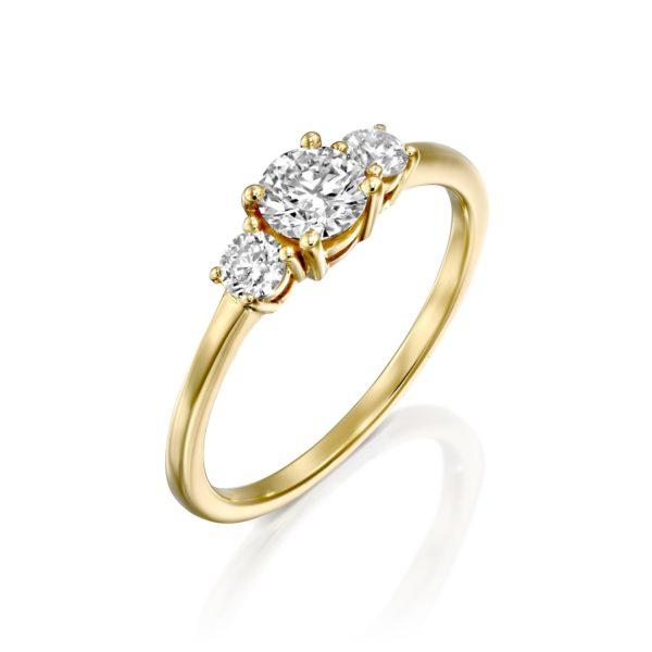 טבעת אירוסין לוריין 0.63 קראט זהב צהוב