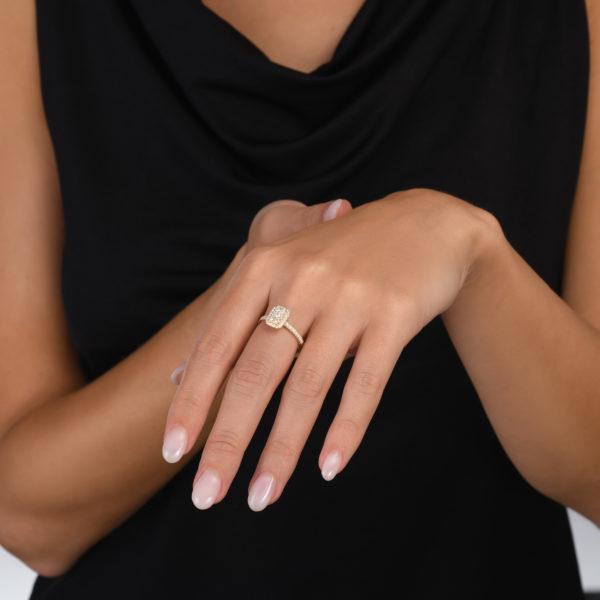 טבעת יהלומים סלינה