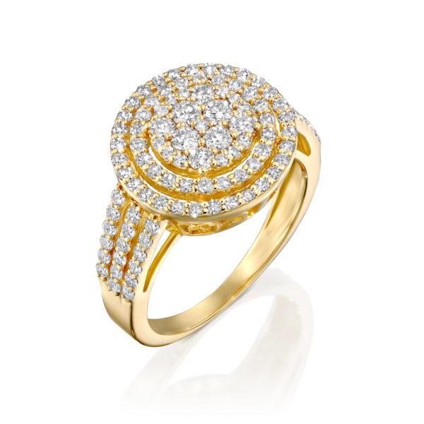 טבעת יהלומים אתינה