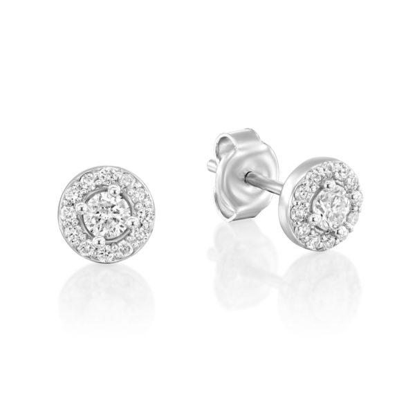 עגילי יהלומים נובה