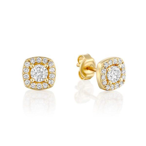 עגילי יהלומים אורורה