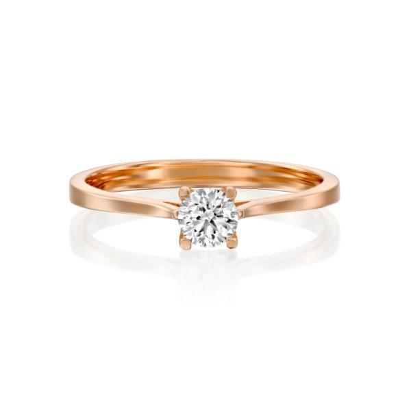 טבעת אירוסין מרבאה 0.25 קראט זהב אדום