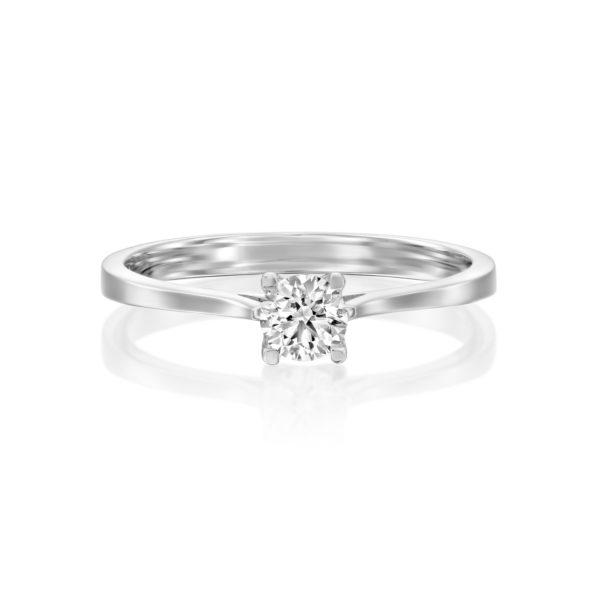 טבעת אירוסין מרבאה 0.25 קראט זהב לבן