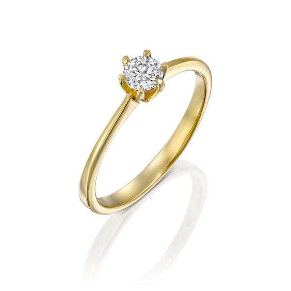 טבעת אירוסין ונציה 0.25 קראט זהב צהוב