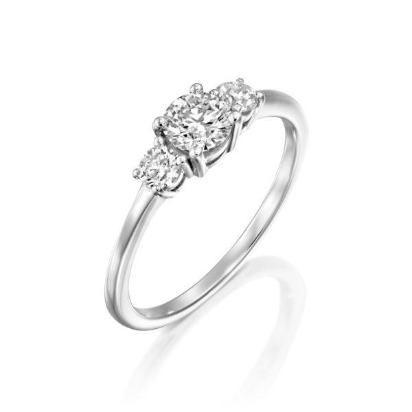 טבעת אירוסין לוריין 0.63 קראט זהב לבן