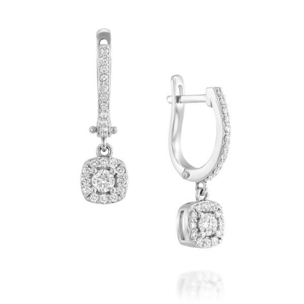 עגילי יהלומים קאניס מייג'ור