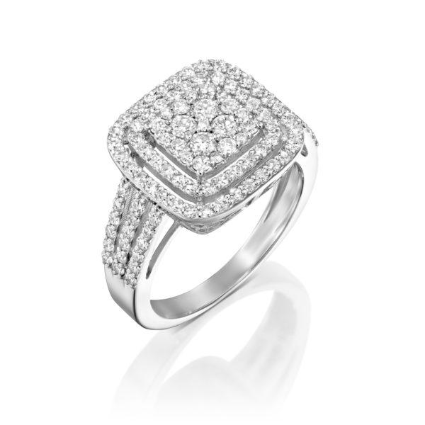 טבעת יהלומים אדורה