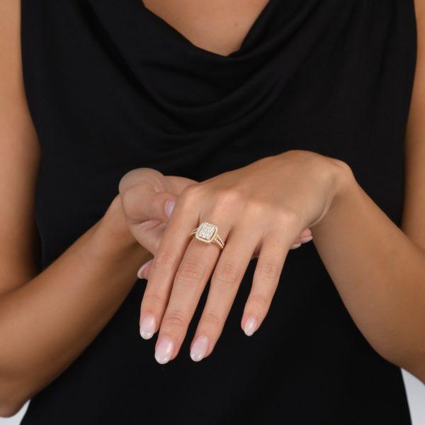 טבעת יהלומים אליסיה
