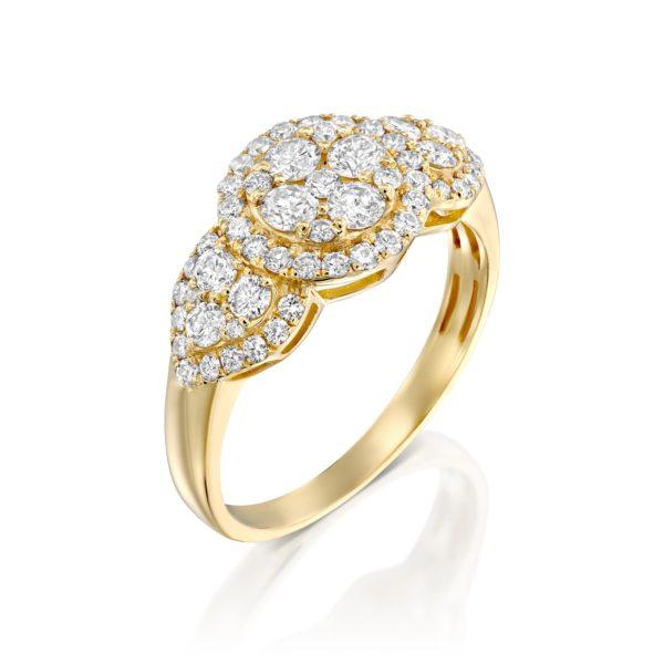 טבעת יהלומים ליליום