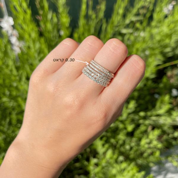 טבעת יהלומים מיה 0.30 קראט