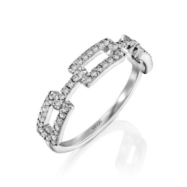 טבעת חוליות יהלומים