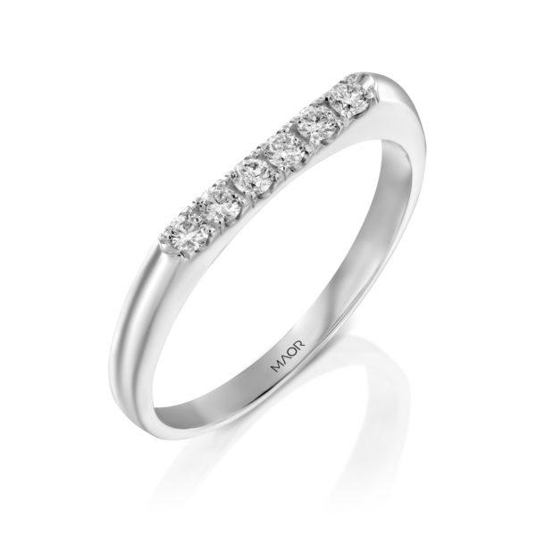טבעת יהלומים ליינה 0.18 קראט