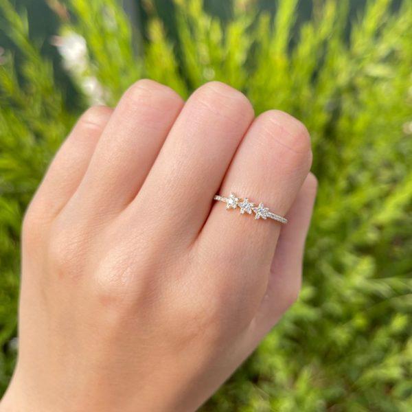 טבעת יהלומים אנדרומדה