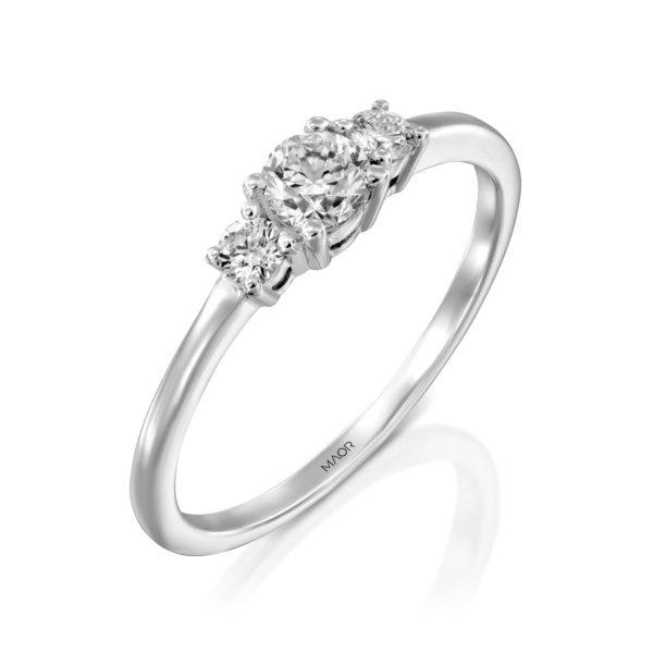 טבעת אירוסין לורי 0.38 קראט זהב לבן