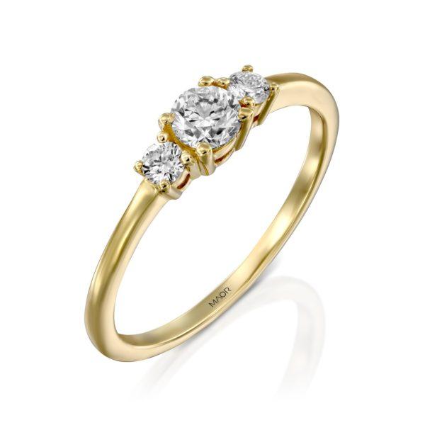 טבעת אירוסין לורי 0.38 קראט זהב צהוב