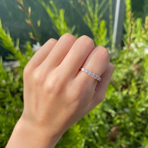 טבעת יהלומים מלודי