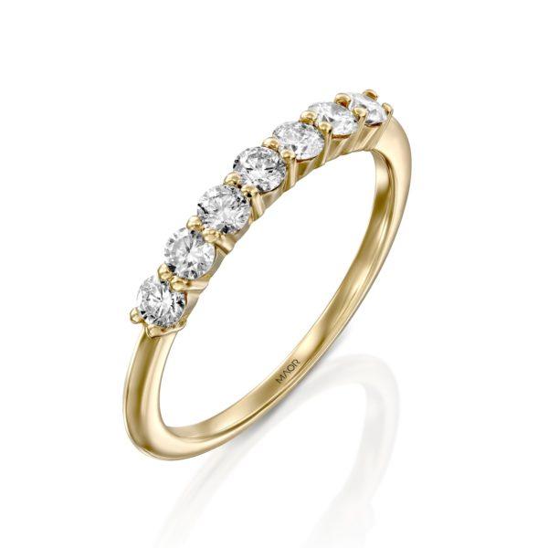 טבעת יהלומים מלודי 0.50 קראט